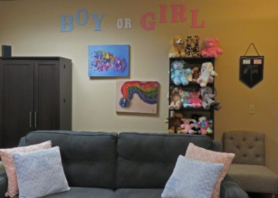 boy or girl wall with couch