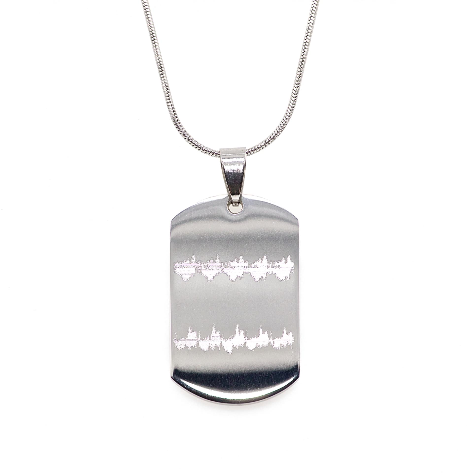 Dog Tag Keyring with Baby/'s Actual Heartbeat and Name Engraving Custom Heartwave Heartbeat Necklace Engraved Necklace Custom Jewelry